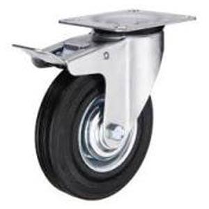 Castor-Swivel-Braked-Rubber-Wheel